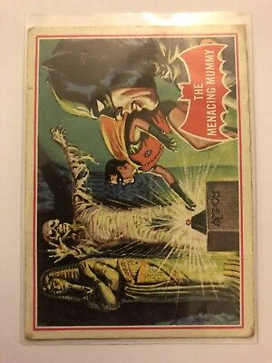 1966 Batman Scanlens Card Series A - Red Bat Set #3 The Menacing Mummy 3A