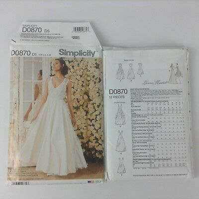 Sz 12-20 Leanne Marshall Strapless Cocktail Dress Uncut Simplicity 1876 FF.