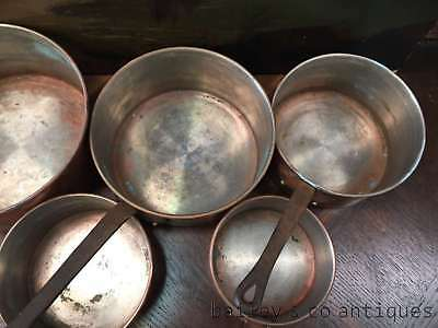 Set of French Vintage Copper & Iron Saucepans - QNF8000