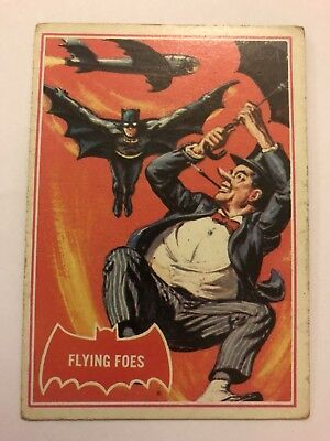 1966 Batman Scanlens Card Series A - Red Bat Set #31 Flying Does 31A
