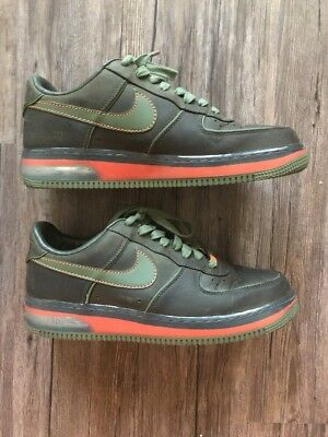 NIKE AIR FORCE 1 SUPREME SZ 11 MAX BERLIN DARK ARMY OLIVE 2007 316666 331 Shoes