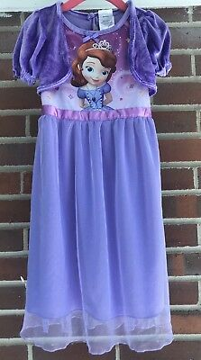 Sofia the First Nightgown, Size 3t Disney Purple Dress Costume Princess Gown