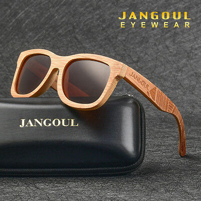 Natural Bamboo Sunglasses Polarized Handmade Carving Frame Wooden Eyewear Unisex