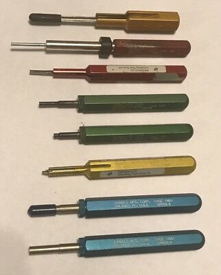 Daniels DMC Extraction Removal Tool 8 PC M81969/2-01 DRK58-8 DRK20 DRK124A 2-02
