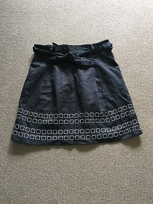 Maternity Skirt Black Ripe with Patern Size S