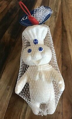 Pillsbury Doughboy Rubber Doll 1997 Poppin Fresh Soft Squeezable Figure New