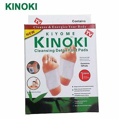 Sumifun 10Ps/Box Kinoki Detox Foot Patches Adhesive Cleansing Foot Plasters C059