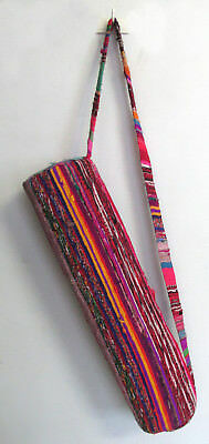 Chindi Fabric Handmade Yoga Bag Gym Mat Carrier Bags With Shoulder Strap Throw