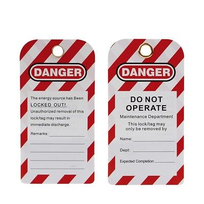 "20 PCS  Warnschild  Schild Warnung vor Gefahr ""Do Not Operate Remark"""