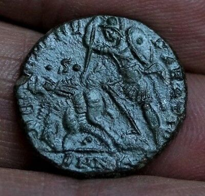 CONSTANTIUS II - SOLDIER SPEARS FALLING HORSEMAN. 337-361 A.D, 4.6gm, 19.5mm