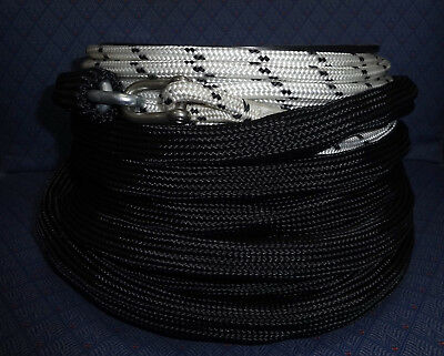 8mm x 60Mtr Dble Braid Rope + 6Mtr Chain Fitted with Poly Sock Anchor Winch Rope