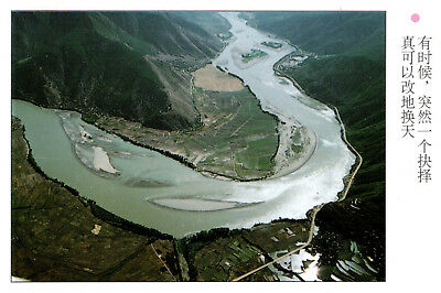 China  -  Lijiang - Aerial view of the Jinsha River - Lijiang Scenery
