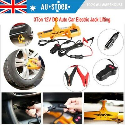 3/10Ton Auto Electric Jack Lifting Car SUV Emergency Equipment w/ Impact Wrench