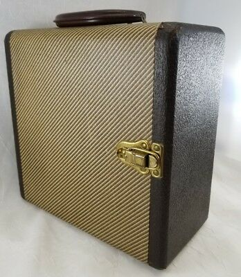 VINTAGE BARNETT & JAFFE BAJA TWEED SLIDE CASE 1950's Retro Craft  Steampunk