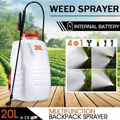 NEW 20L Multi-functional Backpack Electric Garden Weed Sprayer with 4 Nozzles