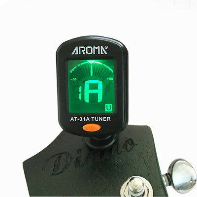 LCD Clip Tuner Chromatic Clip-On Digital Tuner For Guitar Bass Violin Ukulele