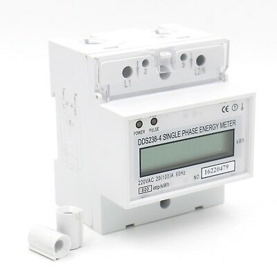 Baomain Single Phase DIN-rail Type Kilowatt Hour kwh Meter 220V 60Hz 20 (... New