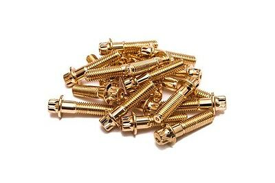 80x Gold Split Rim Bolts M8 x 32mm HRE DPE IFORGED ROTIFORM WORK Steel Screws