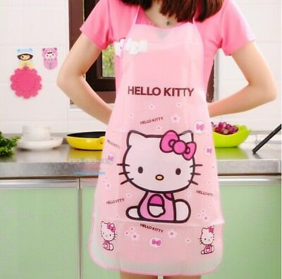 Hello Kitty Sleeveless Waterproof Anti-oil Doraemon Kitchen Women Aprons BBQ