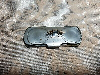 Vintage Eyeglasses 10ct Gold Plated, with Case, Rare & Collectible