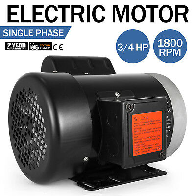 Electric Motor 3/4 HP 1 Phase 1800 RPM 5/8 inch shaft 60 Hz Flange Outdoors