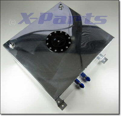 6 Gallon Square Aluminium Fuel Tank with Sender Hole Rally Race Track OBPFTS02