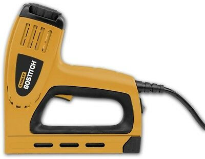 Staple Gun Electric 5/8 Inch Brad Nails Corded Heavy Duty Nailer Home Office Use