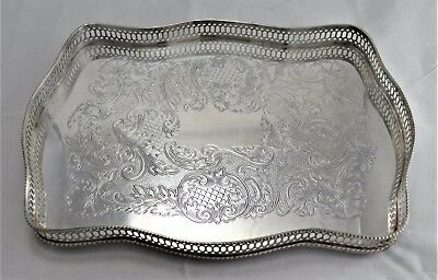 N9226 Magnifico Vassoio A Ringhiera In Silver Plated