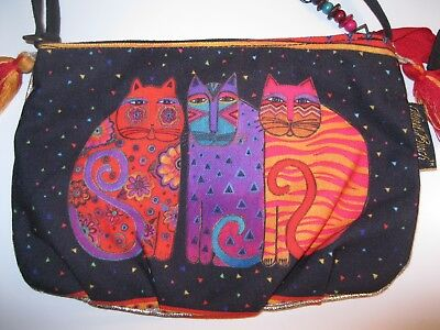 Laurel Burch Feline Friends Crossbody Bag Tribal Cats Bohemian GREAT GRAPHICS