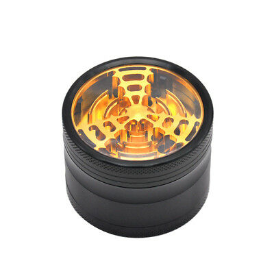1 X 4 Layers 63MM Herb/Spice Grinder Tobacco Crusher With Blade Teeth - Gold