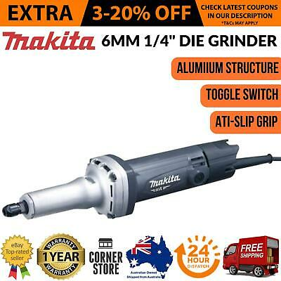 Makita 6mm Die Grinder Electric 1/4 Inch 240V 380W Corded Straight MT Series New