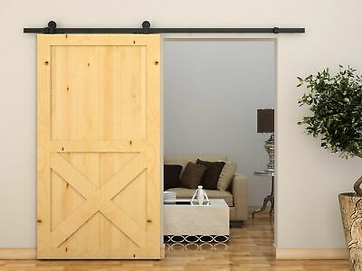 Sliding Barn Door Hardware 2.4m Classic Antique Track Roller Kit Quality Steel