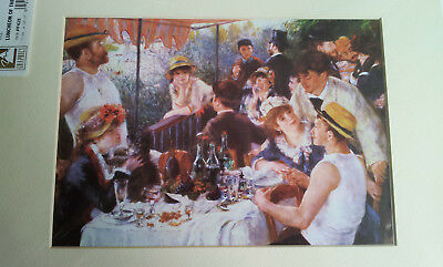 Renoir Luncheon of the Boating Party in picture mount cellophane sealed