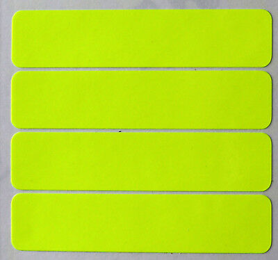 NEON YELLOW Motorcycle Helmet Safety Stickers