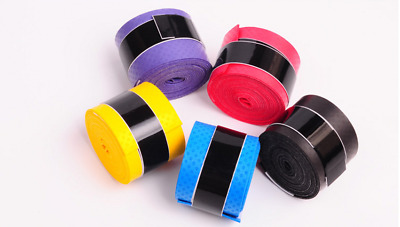 10PCS Absorb sweat stretchy Tennis Squash Racquet Band Grip Tape Overgrip