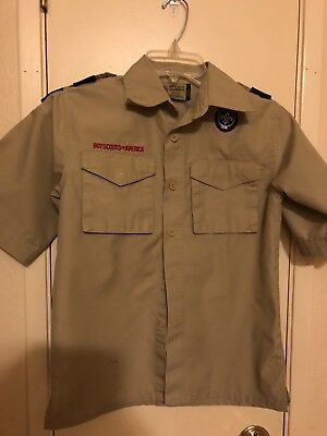 Boy Scouts of America Short Sleeve Uniform Shirt for Webelo, Size Youth Medium