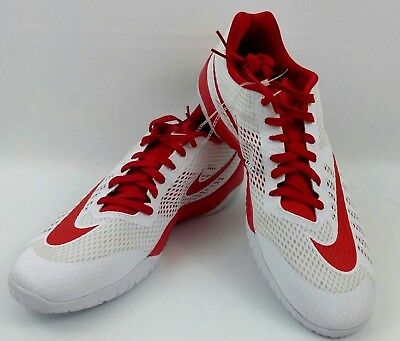 new products 92be5 49365 Nike Hyperlive Red White Basketball Mens 17 US Shoes Low New 834488-161