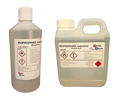 Isopropanol IPA 1L |  99.9% | Lab Grade Quality | 1 Litre - Container OPTIONS