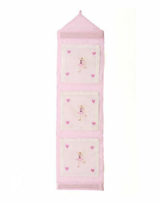 Fairy wallpocket or wall storage hanger in pink