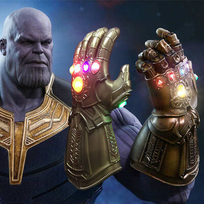 Avengers Infinity War Thanos Infinity Gauntlet LED Gloves Cosplay Props