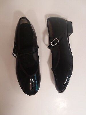 Girls Black Tap Dance Shoes Size 2 Mary Jane