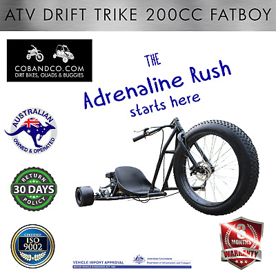 Atv Drift Trike 200Cc Fatboy Off Road Dirt Motor Bike Quad | Cob And Co