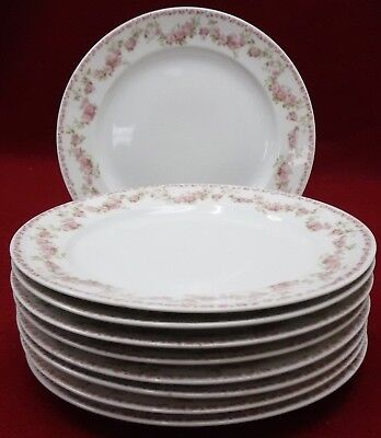 """CHARLES FIELD HAVILAND Limoges china SCH195m Set of 9 Luncheon Plates  8-5/8"""""""