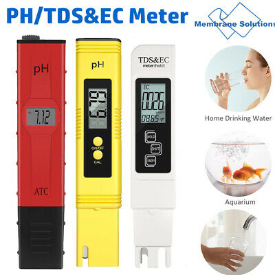 PH TESTER+TDS&EC METER PORTABLE TESTING PEN LCD DIGITAL For POOL WATER AQUARIUM