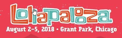 Lollapalooza Friday 8/3/2018 Bruno Mars National Post Malone Chicago Tickets