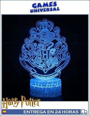 Harry Potter Hogwarts Lampara ambiente Luz tenue colores