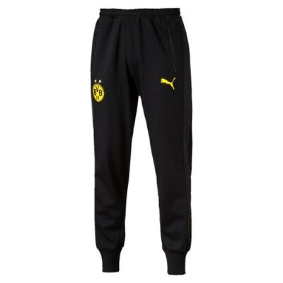 Borussia Dortmund Puma Men's BVB Casuals Sweat Pant - Medium (M) - Black - New