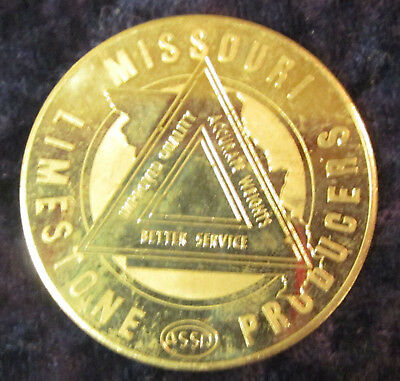 1969 Missouri Limestone Products Silver 25Th Anniversary Medal