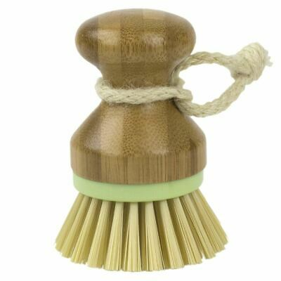 Home Basics Bliss Collection Bamboo Dish Brush, Green - PB45592