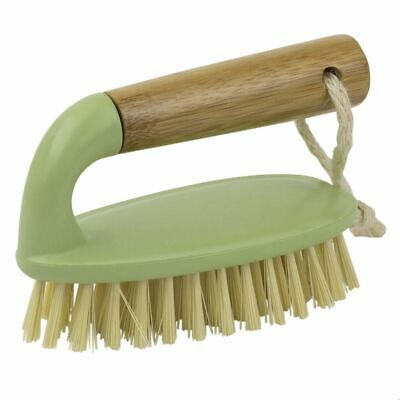 Home Basics Bliss Collection Bamboo Scrubbing Brush, Green - PB45593